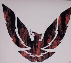 Small Real Fire Printed Phoenix Firebird 9 5 X 8 Window Decal