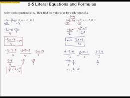 2 5 literal equations and formulas