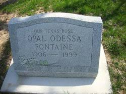 Opal Odessa Smith Fontaine (1906-1999) - Find A Grave Memorial