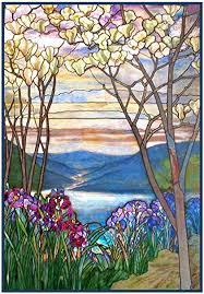 tiffany magnolia trees iris flowers