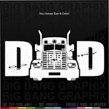 Badass Trucker Dad Vinyl Decal Sticker Funny I Love My Truck Driver Father Pop Ebay