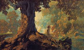 maxfield parrish dreaming or october