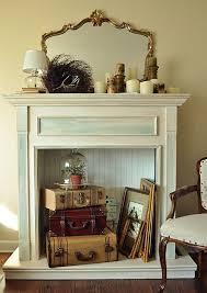faux fireplace mantels