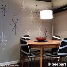 Atomic Starbursts Wall Decals Mid Century Modern Stars Vintage Wall Art Mcm Atomic Stars Retro Decor