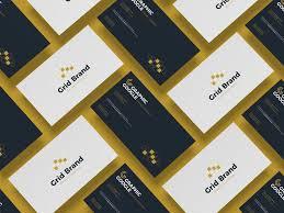 free grid business card mockup mockuptree