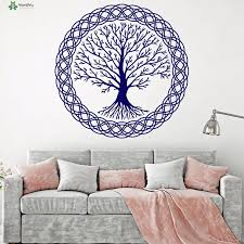 Yoyoyu Vinyl Wall Decal Tree Of Life Complex Pattern Family Celtic Style Living Room Home Decoration Stickers Fd212 Wall Decals Tree Tree Of Lifetree Pattern Aliexpress
