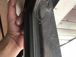 gap in sliding glass door