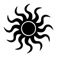 Pagan Sun Silhouette Weatherproof Vinyl Decal