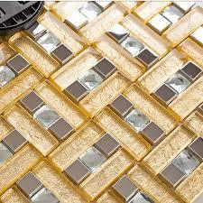 silver stainless steel backsplash tile