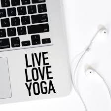 Live Love Yoga Sticker Car Laptop Iphone Vinyl Decal Sticker Etsy