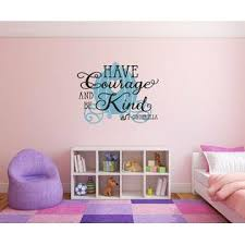 Edvoynlm Have Courage And Be Kind Cinderella Removable Wall Decal Sticker Diy Art Deco