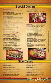 menu of pueblito 2 restaurant