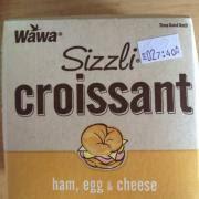 wawa sizzli croissant ham egg