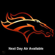 Denver Broncos 13 Orange Chrome Film Auto Window Stickers Next Day Air Optional 401398781