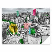 Artwall Tokyo Skyline By Revolver Ocelot Photographic Print Removable Wall Decal Wayfair