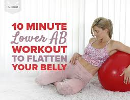 10 minute lower ab workout to flatten