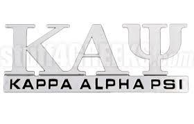 Kappa Alpha Psi Chrome Greek Letters Car Decal Ns