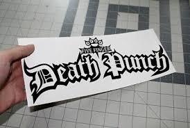 Five Finger Death Punch 5fdp Vinyl Decal Sticker Car Window Laptop 71003 3 84 Picclick