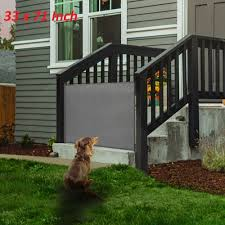 Dogs Retractable Safety Gate Playpen Cat With Stair Fence Isolating Door Cushion For Sale Online Ebay
