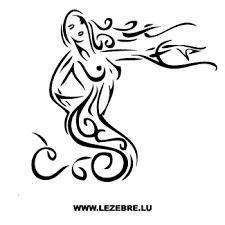 Sexy Tribal Chic Mermaid Sticker