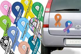 Ribbon Awareness Car Magnet Choose Hope