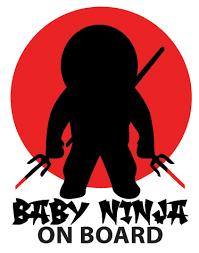 Baby Ninja On Board Car Sticker Tenstickers