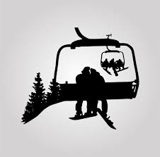 Snowboard Chairlift Decal Powderaddicts