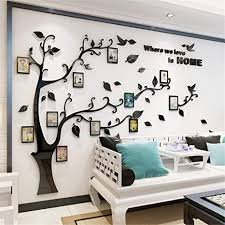 Amazon Com Unitendo 3d Wall Stickers Photo Frames Familytree Wall Decal Easy To Install Apply Diy Photo Gallery Frame Decor Sticker Home Art Decor Black Leaves Left l Home Kitchen