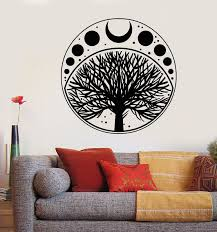 Vinyl Wall Decal Moon Phases Cycle Tree Of Life Symbol Stickers 1836ig Moon Decal Wall Decals Vinyl Wall Decals