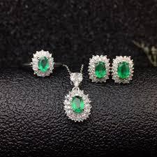 dazzling emerald wedding jewelry set