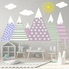 Mountain Wall Decal Kids Nursery Bedroom Woodland Mural Adventure Decor Lm248 Ebay