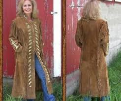 womens long duster coat suede leather