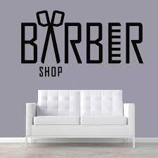 Barber Shop Wall Decals Beauty Salon Scissor Vinyl Wall Sticker Haircut Hairdresser Design Window Sticker Baber Shop Decor Ay853 Wall Stickers Aliexpress