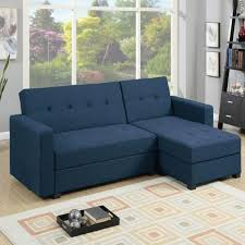 navy blue fabric storage sectional