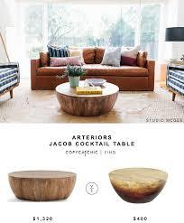 arteriors jacob cocktail table coffee