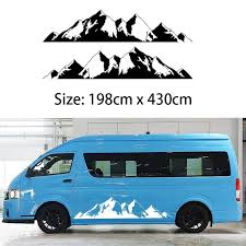 2x Mountain Off Road Camper Van Motorhome Door Body Vehicle Decal One For Each Side Vinyl Sticker Car Truck Rv Northw Car Decals Off Road Camper Car Stickers