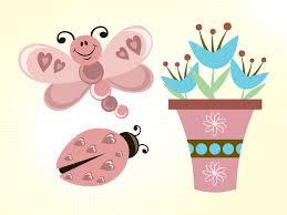 flowers and erflies vector images