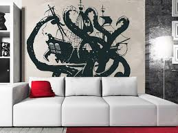 Wall Decal Vinyl Sticker Decals Art Decor Design Pirates Ship Skull Guns Sail Boat Octopus Ientacles Ship Kids Ch Vinyl Wall Decals Wall Decals Pirate Ship Art