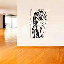 Olivia Large Black Tiger Wall Sticker Decals Wild Animal Silhouette Graphic Pattern Wall Decor Diy Vinyl Removable Home Mural Art For Teen Girls Boys Kids Children Bedroom Living Room Decoration Wallpaper