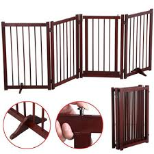 Folding Free Standing Panel Wood Pet Dog Safety Fence Buy Dog Fence Cheap Fence Panels Wooden Retractable Dog Fence Product On Alibaba Com