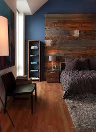 wood clad bedroom feature wall ideas