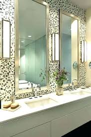 scenic bathroom mirror tile frame glass