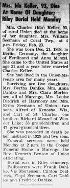 Obituary for Ida Keller (Aged 93) - Newspapers.com