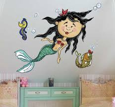 Under The Sea Mermaid Wall Sticker Tenstickers