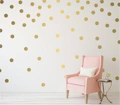 Gold Polka Dot Vinyl Wall Stickers Nursery Decal Pattern Decoratorist 75209