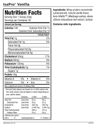 isapro nutrition facts protein shake