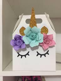 Unicorn Favors Unicorn Box Paper Flowers Decoracion Fiesta