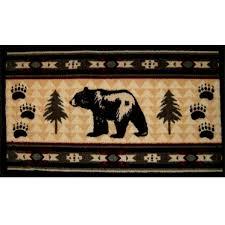 bear fever rustic bathroom rug cabin place