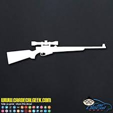 Amazon Com Hunting Rifle Gun Decal Car Truck Window Decal Sticker Laptop Decal Sticker Macbook Decal Sticker Wall Decal Sticker 20 Inch Red Automotive