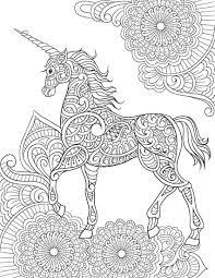Unicorn Mandala Coloring Pages Mandala Coloring Mandala